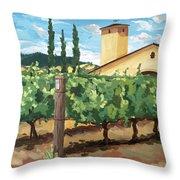 Mondavi Vineyard, Napa Throw Pillow