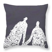 Monday In The Park With Vivian Throw Pillow