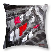 Monday We Do The Sheets - Urban Roof Top Throw Pillow