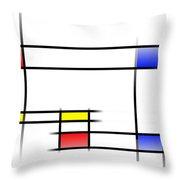 Mondrian In Motion 2 Throw Pillow