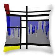 Mondrian In N Y Throw Pillow