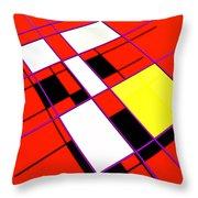 Mondrian Lays A Carpet Throw Pillow