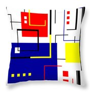 Mondrian Redux Throw Pillow by Tara Hutton