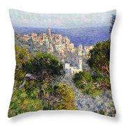 Monet: Bordighera, 1884 Throw Pillow