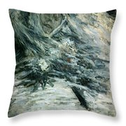 Monet Camille Monet On Her Deathbed Throw Pillow