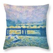 Monet: Charing Cross Throw Pillow