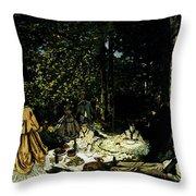 Monet Dejeuner Sur L Herbe A Chailly Throw Pillow
