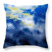 Monet Like Water Throw Pillow
