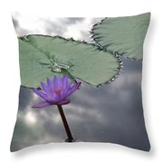 Monet Lily Pond Reflection  Throw Pillow