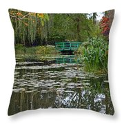 Monet's Bridge At Giverny, France Throw Pillow