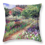 Monet's Garden  Throw Pillow