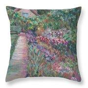 Monet's Gardens Throw Pillow