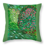Monet's Parc Monceau Throw Pillow