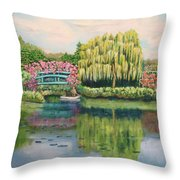 Monet's Summer Garden No.2 Throw Pillow