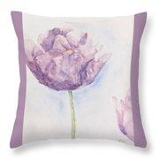 Monet's Tulip Throw Pillow