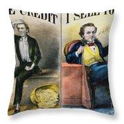 Money Lending, 1870 Throw Pillow