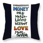 Money Only Throw Pillow