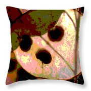 Money Plant Throw Pillow