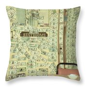 Money Restrooms Throw Pillow