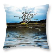 Money Tree On A Windy Day Throw Pillow