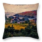 Monhegan Island Maine Throw Pillow