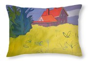 Monhegan Light Throw Pillow