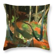 Monhegan Maine Throw Pillow
