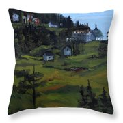 Monhegan View From Lighthouse Hill Throw Pillow