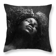 Monique I Bw Throw Pillow