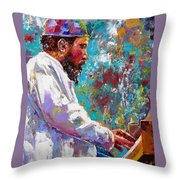 Monk Live Throw Pillow
