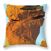 Monkey Face Pillar At Smith Rock Closeup Throw Pillow