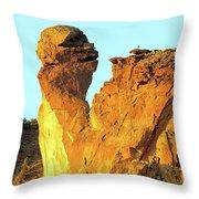 Monkey Face Pillar At Smith Rock Throw Pillow