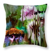 Monkey In My Heart Throw Pillow