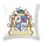 Monkey Money Cook Pot Sports Wine Coat Of Arms Drawing Throw Pillow