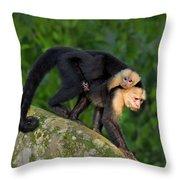 Monkey On My Back Throw Pillow