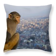 Encroached Throw Pillow