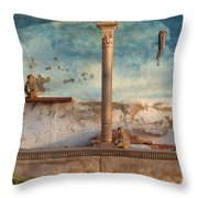 Monkeys At Sunset Throw Pillow