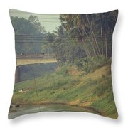 Monks - Battambang Throw Pillow