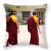 Monks Throw Pillow