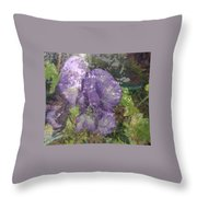 Monkshood Throw Pillow