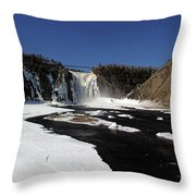 Montmorency Fall, Winter Throw Pillow