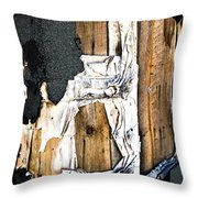 Mono Hut Wall Throw Pillow