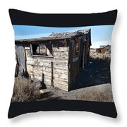 Mono Huts Throw Pillow