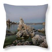 Mono Lake At Dusk Throw Pillow by Margaret Pitcher