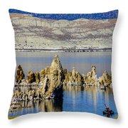 Mono Lake Spires Throw Pillow