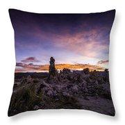 Mono Lake Sunset 5 Throw Pillow
