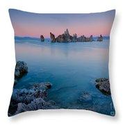 Mono Lake Twilight Throw Pillow