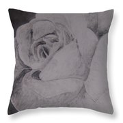 Mono Rose Throw Pillow