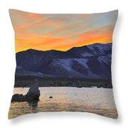 Mono Sunset Throw Pillow