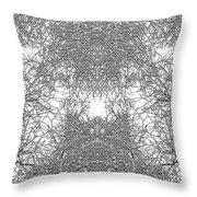 Mono Trees Throw Pillow